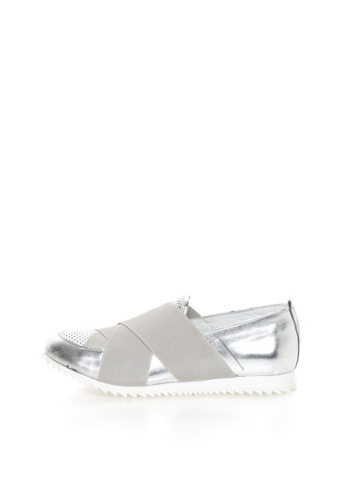 John Galliano Pantofi slip-on de piele cu aspect metalizat Femei