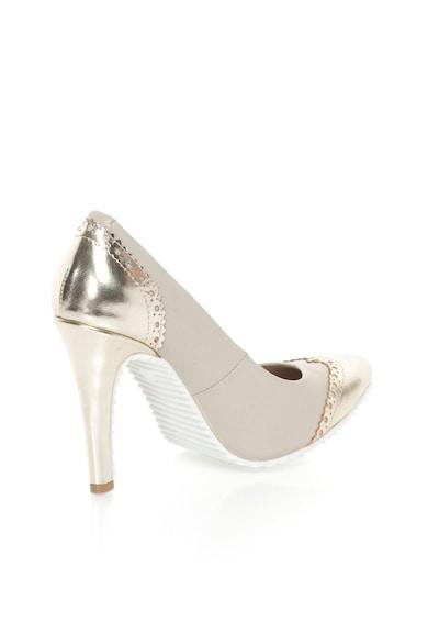 John Galliano Pantofi de piele auriu si grej cu toc stiletto Femei