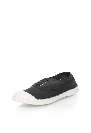 Bensimon Платнени спортни обувки в бледочерно Мъже