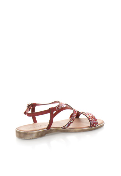 Zee Lane Sandale de piele intoarsa cu strasuri12562DB-CAMOSCIO Femei