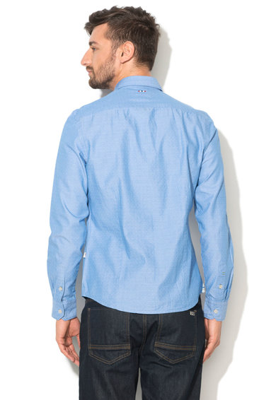 Napapijri Camasa slim fit albastra cu model discret Gebeon Barbati