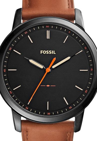 Fossil Часовник The Minimalist в канела и черно Мъже