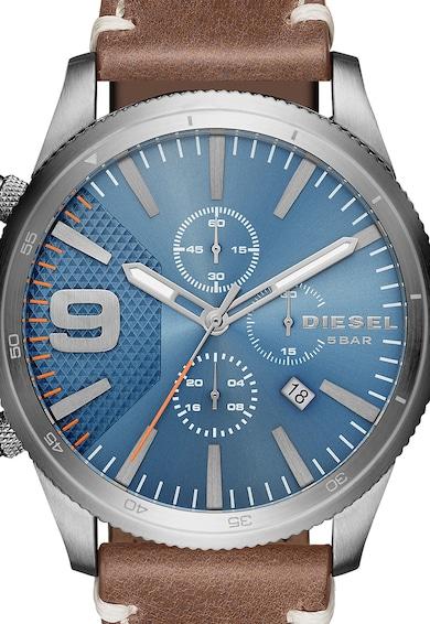 Diesel Часовник в кафяво и сребристо с хронограф Мъже