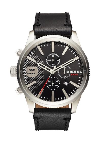 Diesel Ceas cronograf negru cu argintiu Barbati
