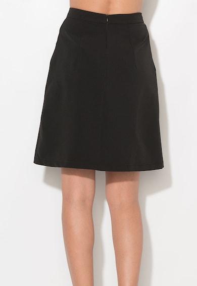 Zee Lane Collection Fusta neagra evazata cu buzunare oblice Femei