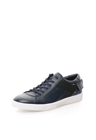 CALVIN KLEIN Тъмносини кожени спортни обувки Мъже