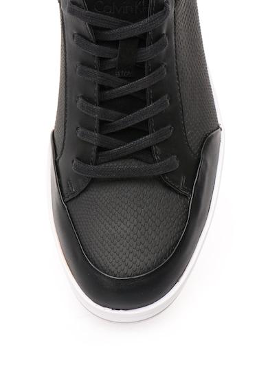 Calvin Klein Pantofi sport negri cu model reptila Balin Barbati