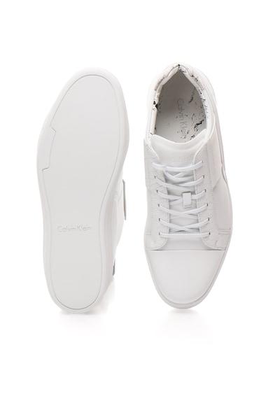 Calvin Klein Pantofi sport albi de piele Nickson Barbati