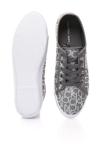 Calvin Klein Jeans Pantofi sport gri cu imprimeu logo Fallon Barbati
