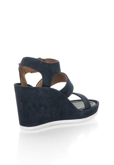Calvin Klein Тъмносини велурени сандали със скосена платформа Жени