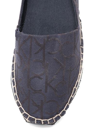 Calvin Klein Jeans Espadrile flatform bleumarin cu model logo Genna Femei