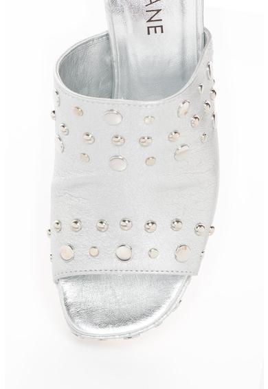 Zee Lane Papuci de piele cu nituri metalice Rock Femei