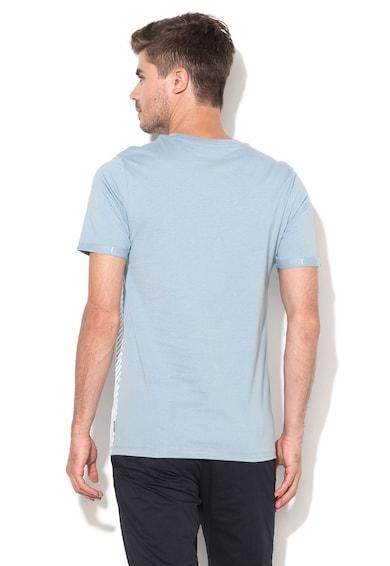 Jack&Jones Вталена тениска в светлосиньо и бяло Мъже