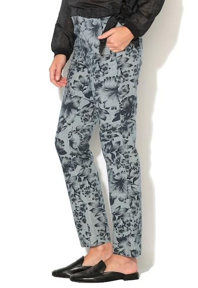 BIG STAR Панталон в синьо и бяло на шарки Жени