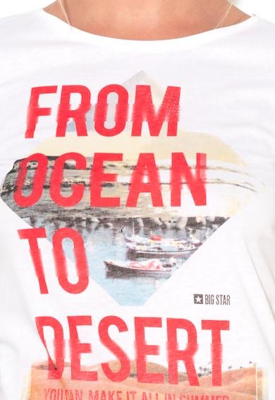 Big Star Бяла тениска с фотопринт Жени