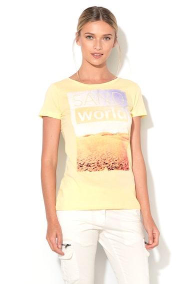Big Star Бледожълта тениска с щампа Жени