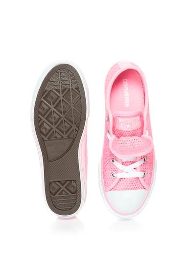 Converse Lány Élénk Rózsaszín Hálós Anyagú Cipő Lány