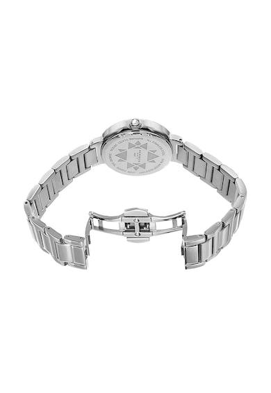 AKRIBOS XXIV Ceas decorat cu diamante, Argintiu Femei
