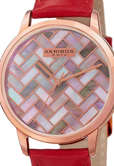 AKRIBOS XXIV Ceas cu o curea de piele Femei