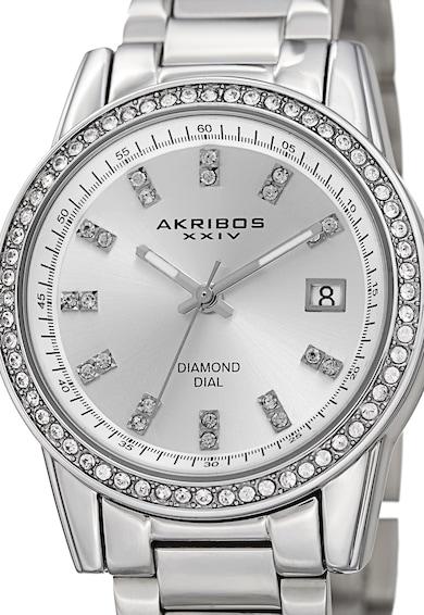 AKRIBOS XXIV Gyémántokkal és Kristályokkal Díszített Karóra női