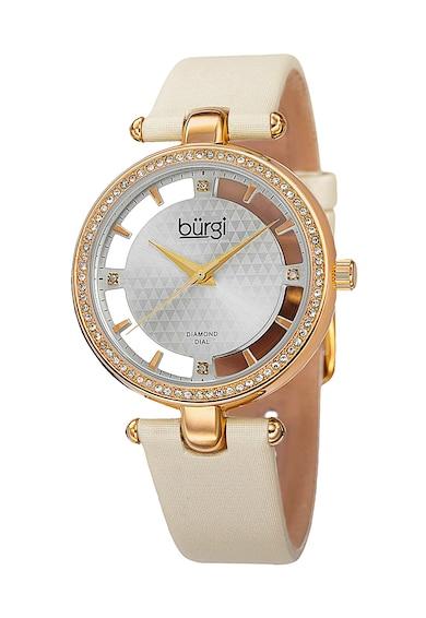 BURGI Ceas quartz decorat cu 4 diamante Femei