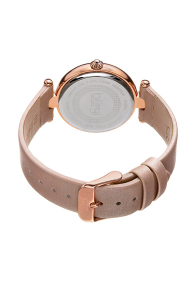 BURGI Часовник в розови нюанси с 4 диаманта Жени