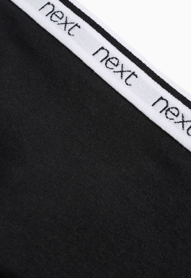 NEXT Set de chiloti negru cu gri si alb - 4 perechi Femei