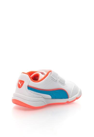 Puma Baba Stepfleex Fehér&Kék Tépőzáras Cipő Fiú