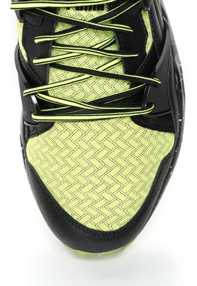 Puma Pantofi sport negru si verde lime cu plasa Blaze Tech Barbati