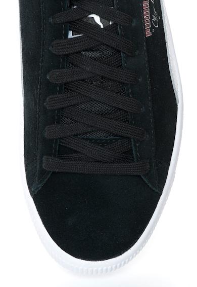 Puma Clyde B&C Fekete Nyersbőr Cipő férfi
