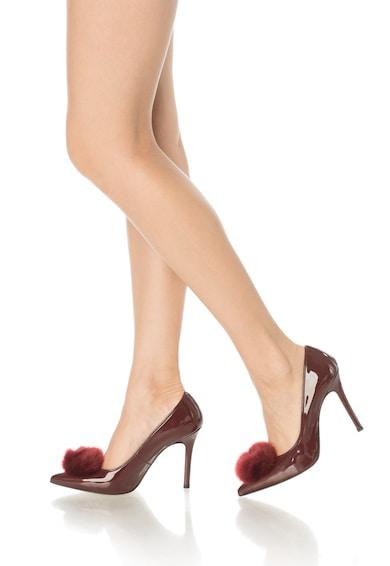 Versace 19.69 Abbigliamento Sportivo Maeva Bordó Lakkozott Anyagú, Hegyes Orrú Cipő női