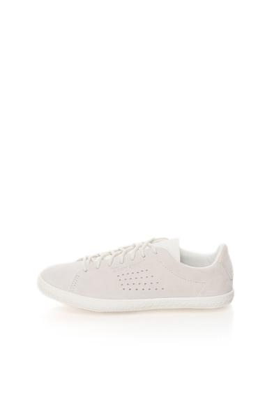 Le Coq Sportif Pantofi sport gri deschis cu alb de piele Charline PS Femei