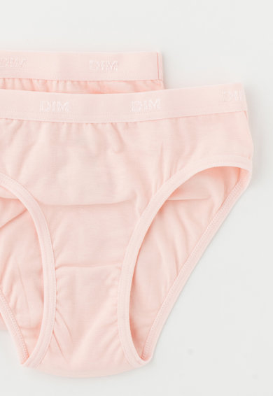 DIM Set de chiloti roz piersica deschis - 2 perechi Fete