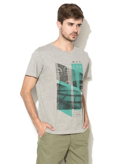 Greystone Тениска в сив меланж с фигурална щампа Мъже