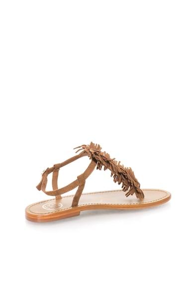 WHITE SUN Кафяви велурени сандали с ресни Жени
