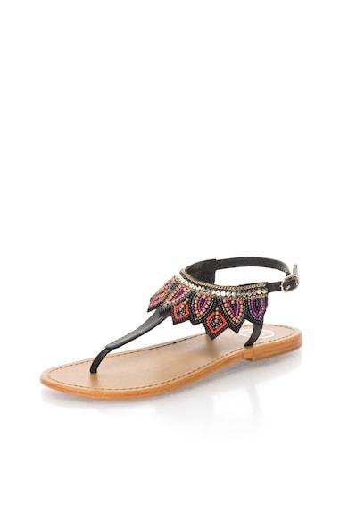 WHITE SUN Sandale cu margele multicolore si bareta T Femei
