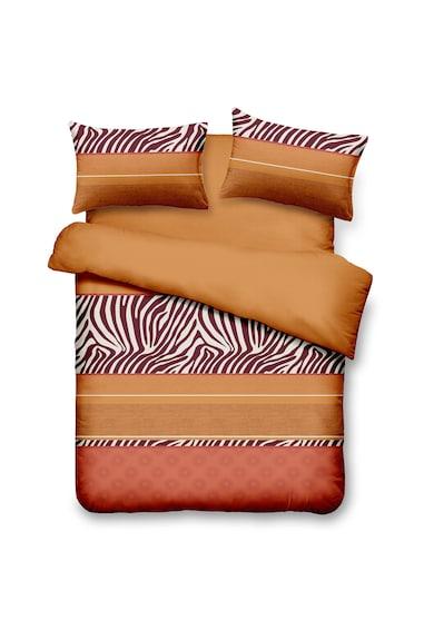 Vanora Home Lenjerie de pat pentru 2 persoane  4 piese, microfibra, Brown Femei