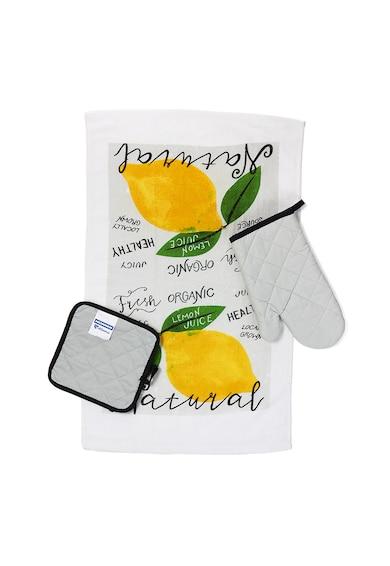 Heinner Home Кухненски комплект  3 части, Памук, Модел лимон Жени