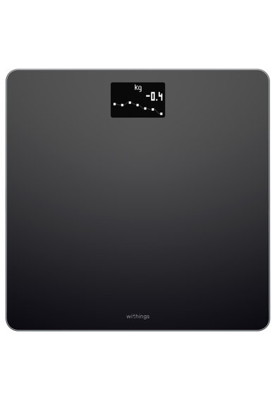 Withings Cantar de persoane Nokia Body BMI WBS06, Wi-fi, 180 Kg, Negru Femei