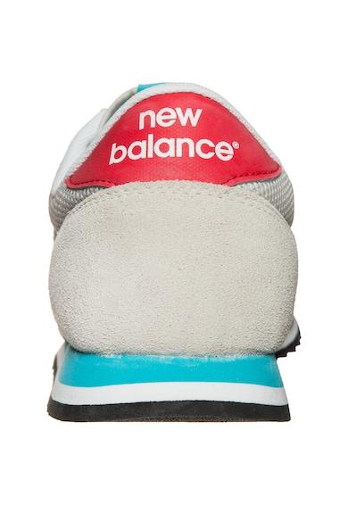 New Balance Uniszex nyersbőr sneakers cipő textilbetétekkel női