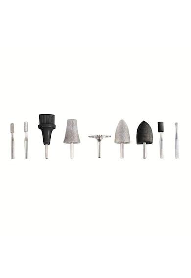DomoClip Aparat manichiura-pedichoiura , 2 viteze, 9 accesorii, Negru/Mov Femei