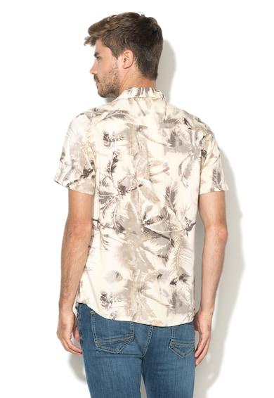 Another Influence Бежова риза с тропически десен Мъже