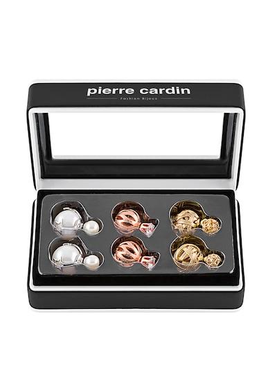 Pierre Cardin Set de cercei cu tija si doua sfere - 3 perechi Femei