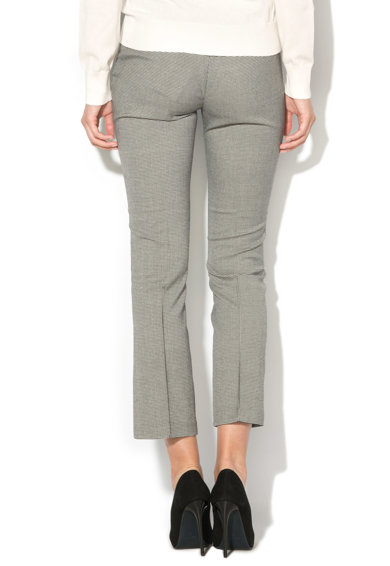 GUESS JEANS Pantaloni cu model houndstooth si talie elastica Femei