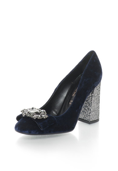 Zee Lane Collection Pantofi catifelati cu strasuri Femei