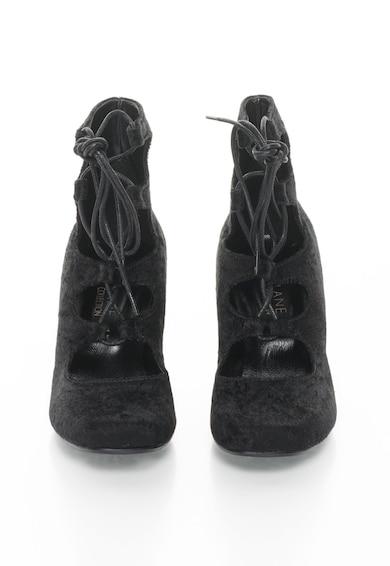 Zee Lane Collection Pantofi catifelati cu toc si siret Femei
