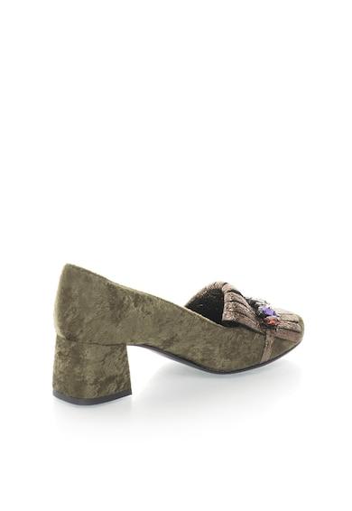 Zee Lane Collection Pantofi de catifea decorati cu strasuri Femei