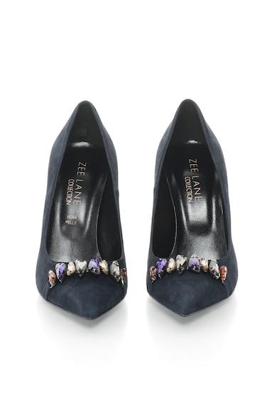Zee Lane Collection Pantofi stiletto de piele intoarsa cu strasuri Femei