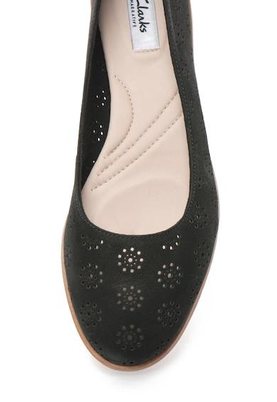 Clarks Pantofi de piele nabuc cu decupaje Alania Rosa Femei