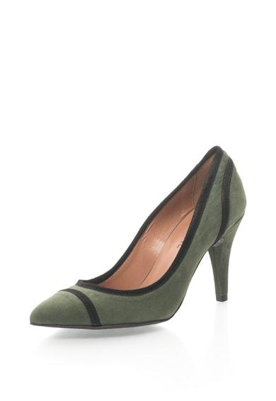 Zee Lane Pantofi de piele intoarsa cu varf ascutit si garnituri contrastante Femei